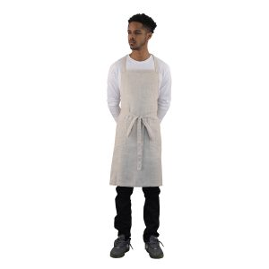 Linen Apron In Natural Color
