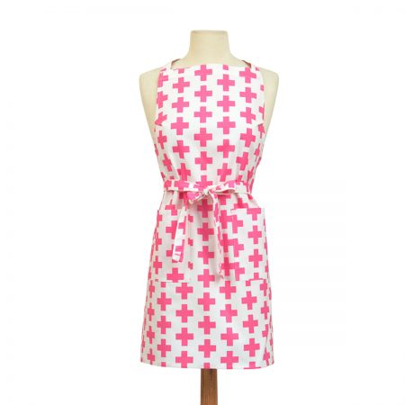 Pink Apron Crosses Design