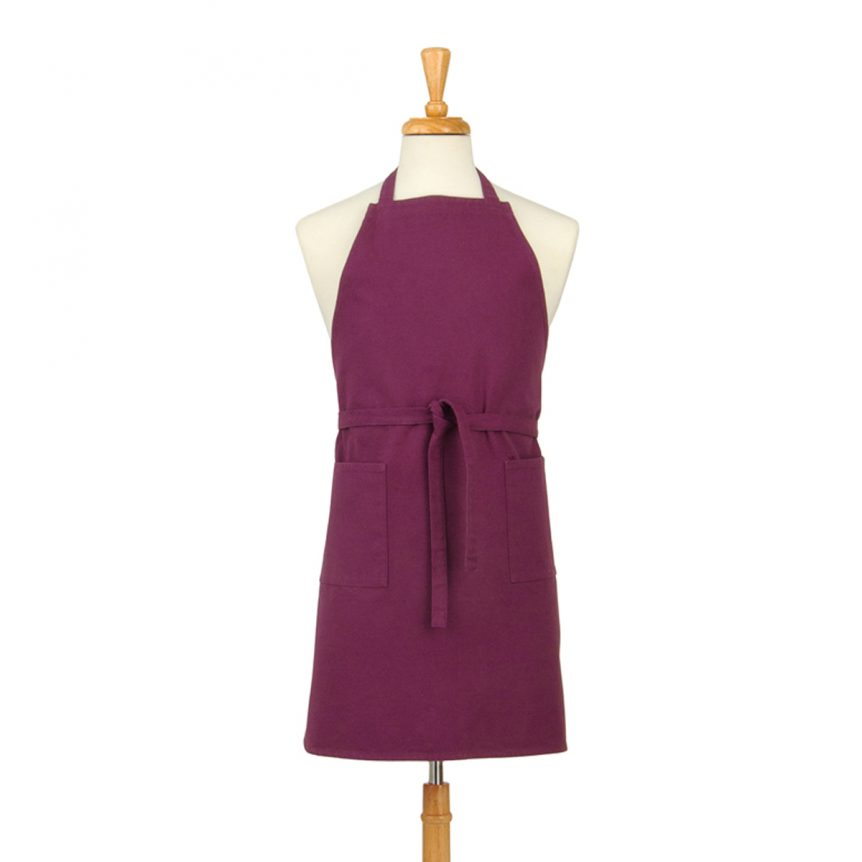 Purple Cotton Canvas Apron
