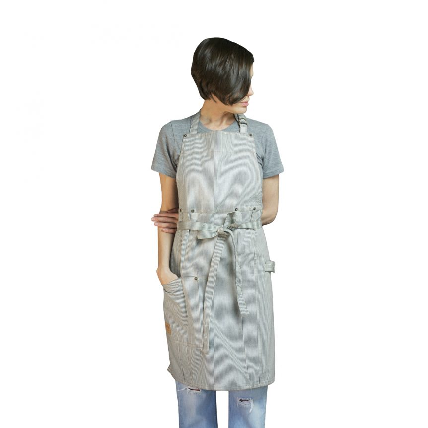 Denim Apron Railroad Stripe