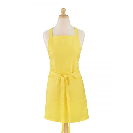 Yellow Cotton Canvas Apron