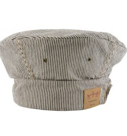 Denim Toque Railroad Stripe