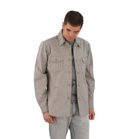 Railroad Stripe Long Sleeve Server's Shirt