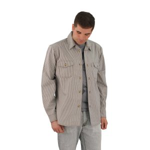 Railroad Stripe Long Sleeve Server's Shirt