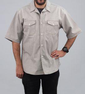 Railroad Stripe Short Sleeve Server's Shirt