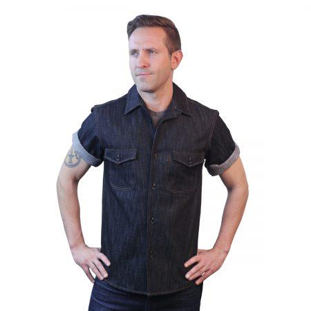 Blue Denim Short Sleeve Shirt