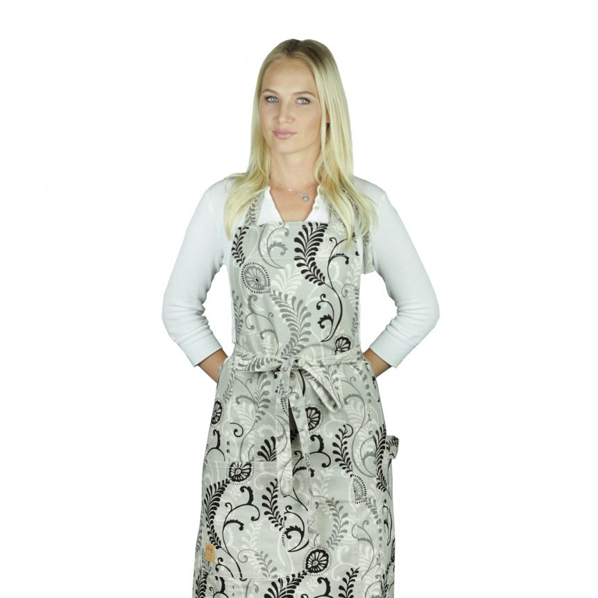 Linen Floral Apron Morningtide