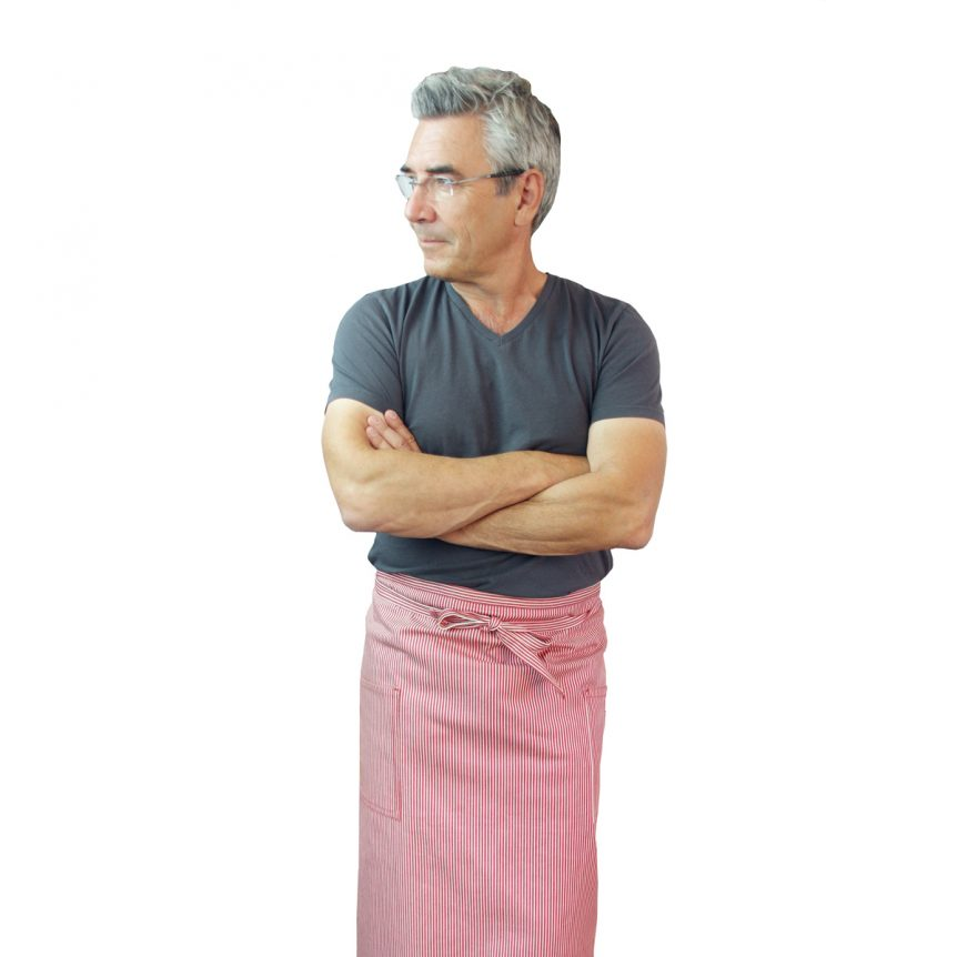 Red White Bistro Apron