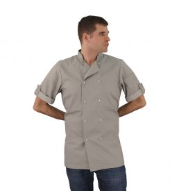 Stone Chef Coat Short Sleeve Unisex