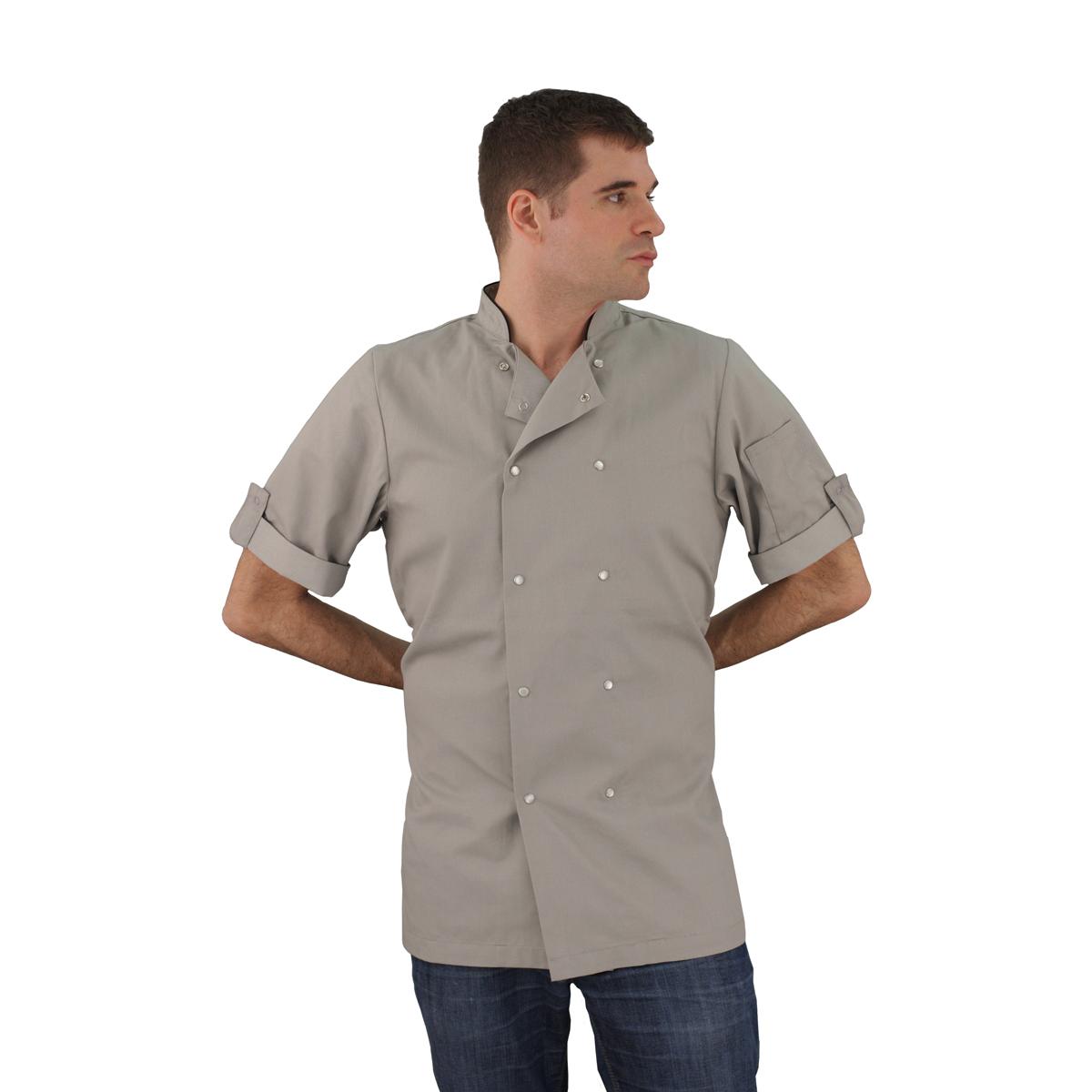 Stone Chef Coat Short Sleeve Unisex Art Style Design Living