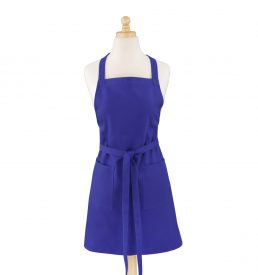 Deep Royal Blue Cotton Canvas Apron