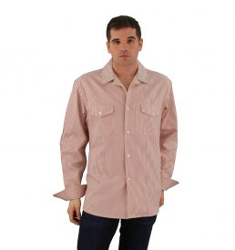 Server Shirt Red Railroad Stripe Long Sleeve