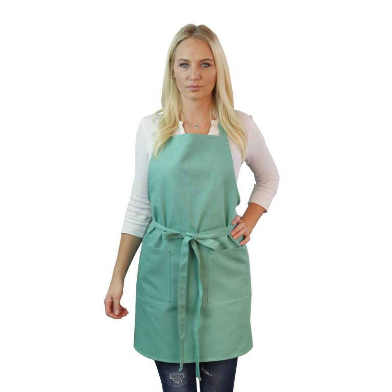 Mint Green Cotton Canvas Apron
