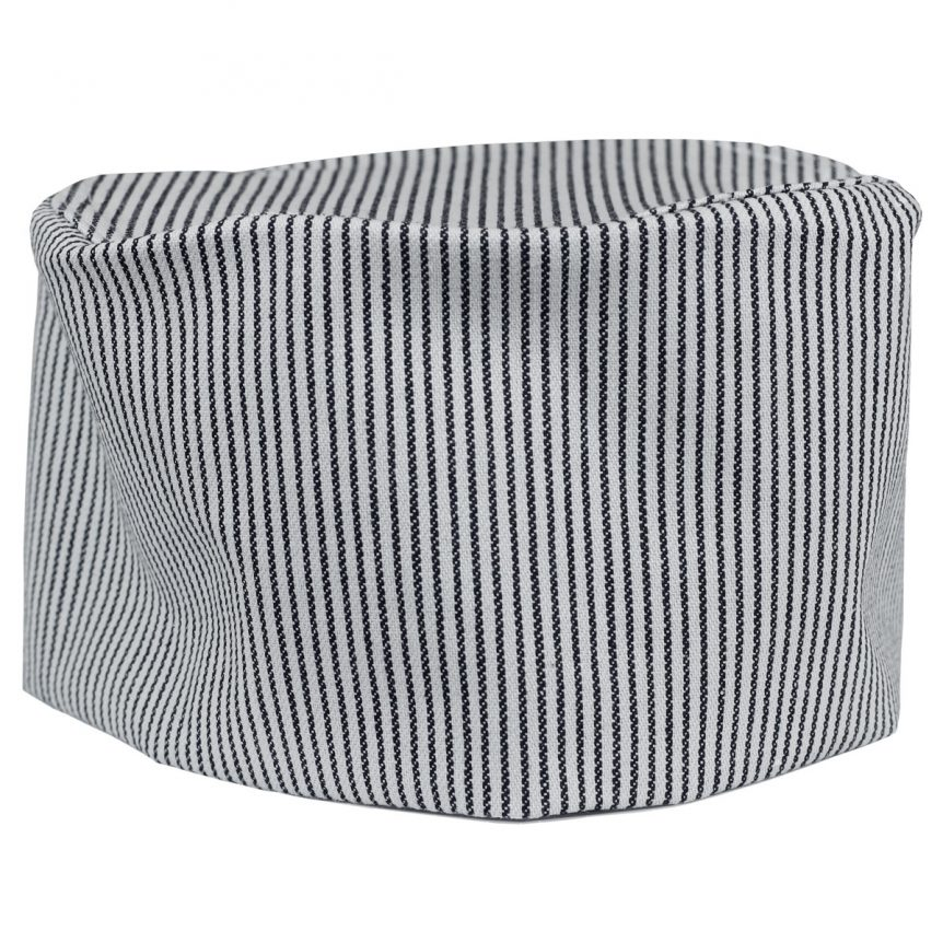 Denim Chef Cap Railroad Stripe