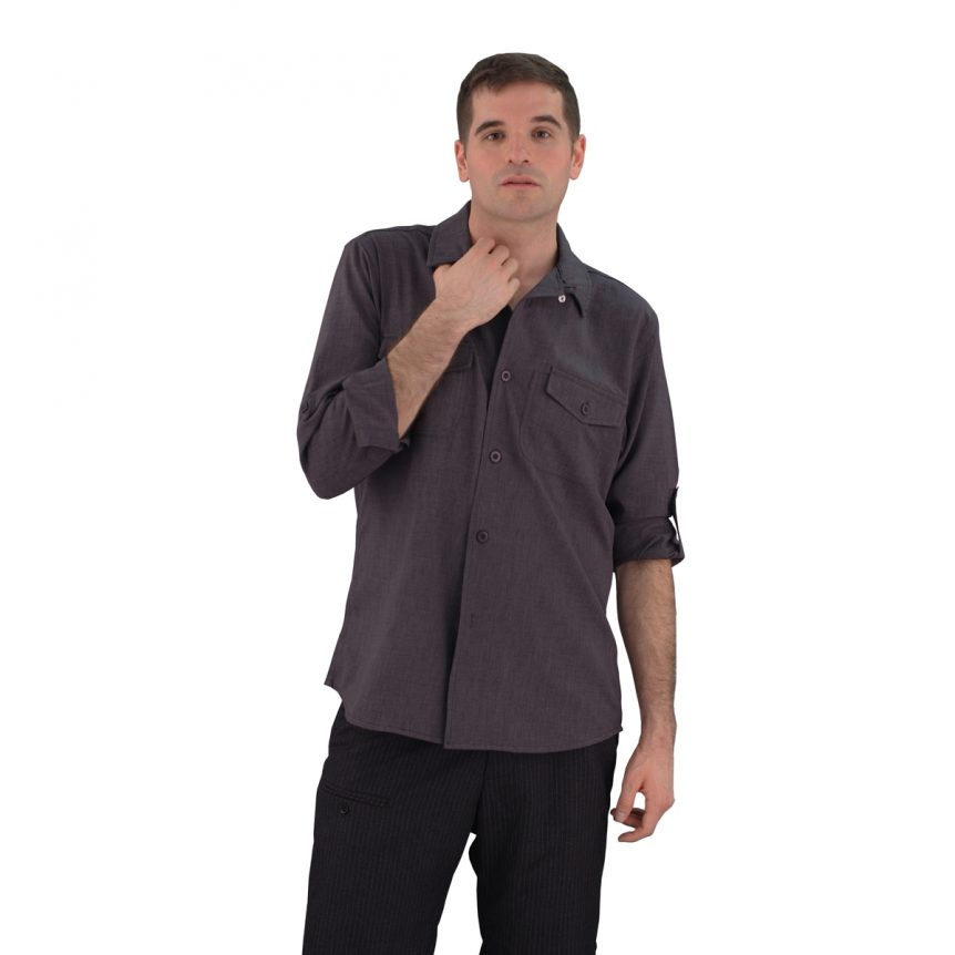 Charcoal Grey Work Shirt Zanzibar