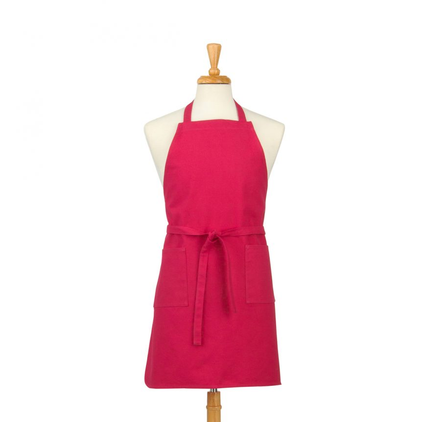 Magenta Cotton Canvas Apron