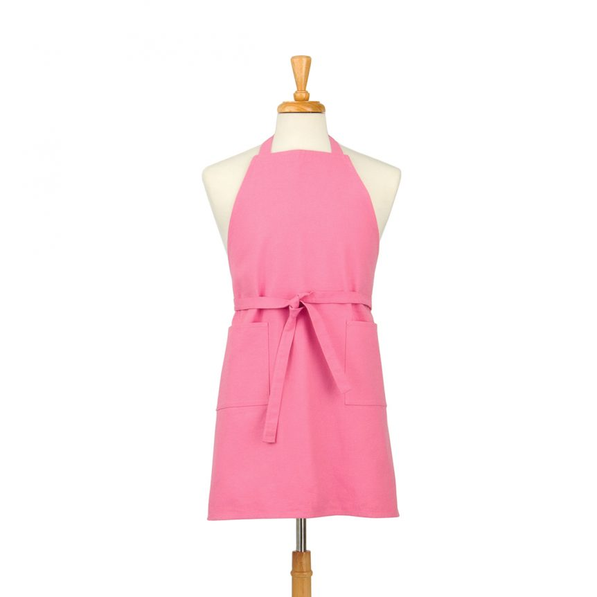 Pink Cotton Canvas Apron