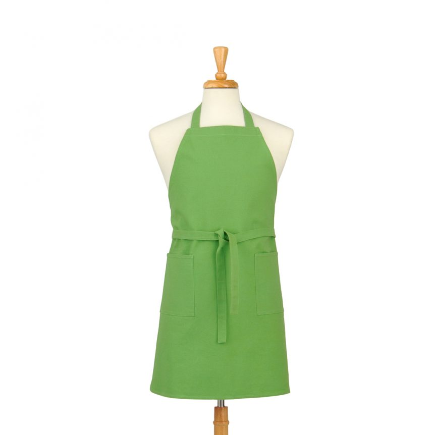 Green Cotton Canvas Apron