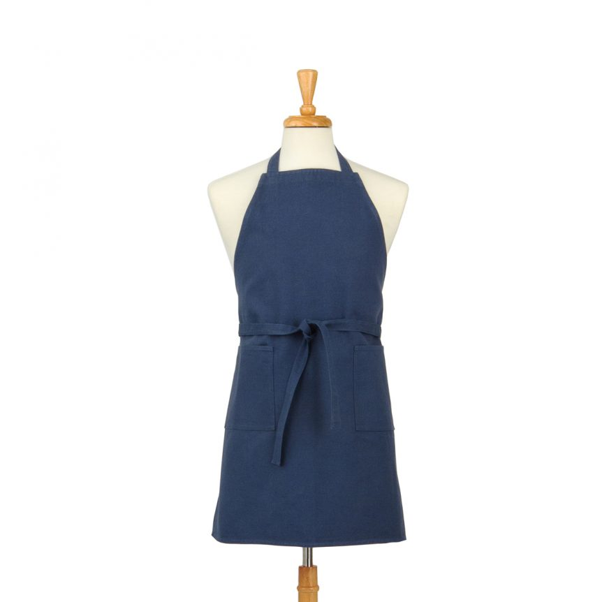 Slate Blue Cotton Canvas Apron