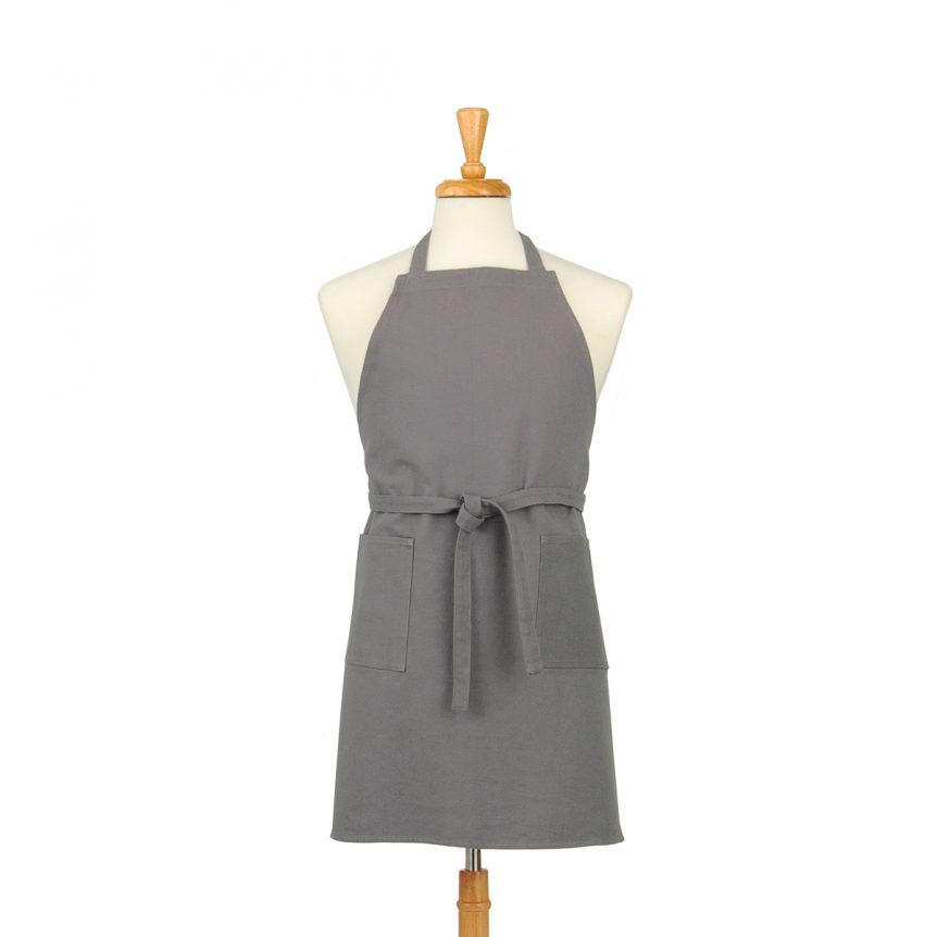 Grey Cotton Canvas Apron