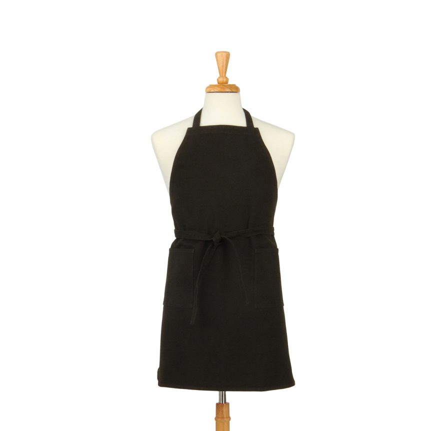 Black Cotton Canvas Apron