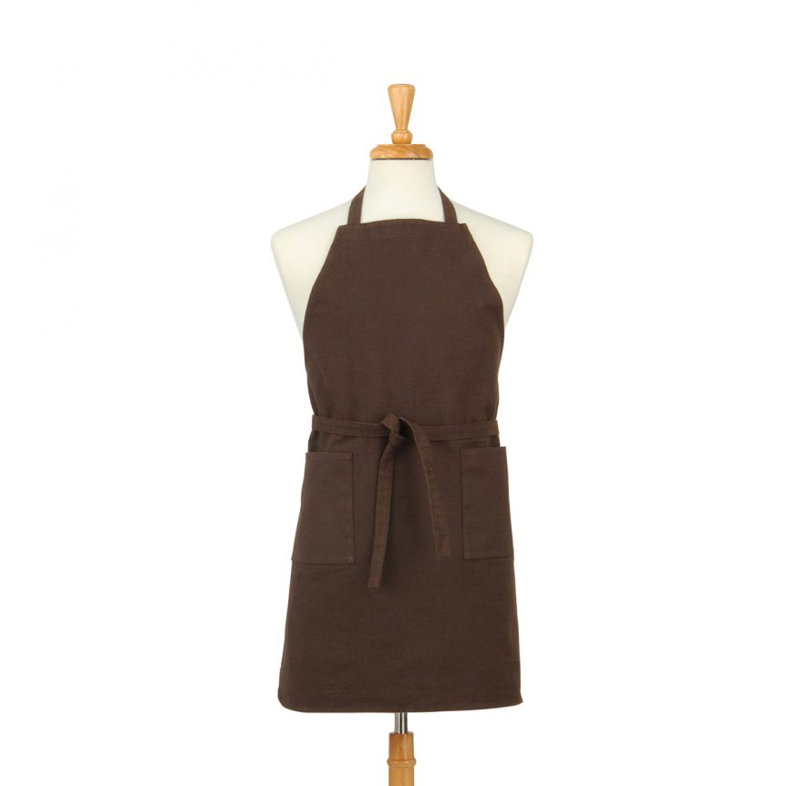 Dark Brown Cotton Canvas Apron