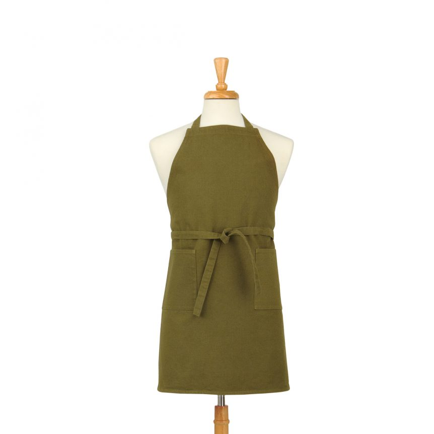 Military Green Cotton Canvas Apron