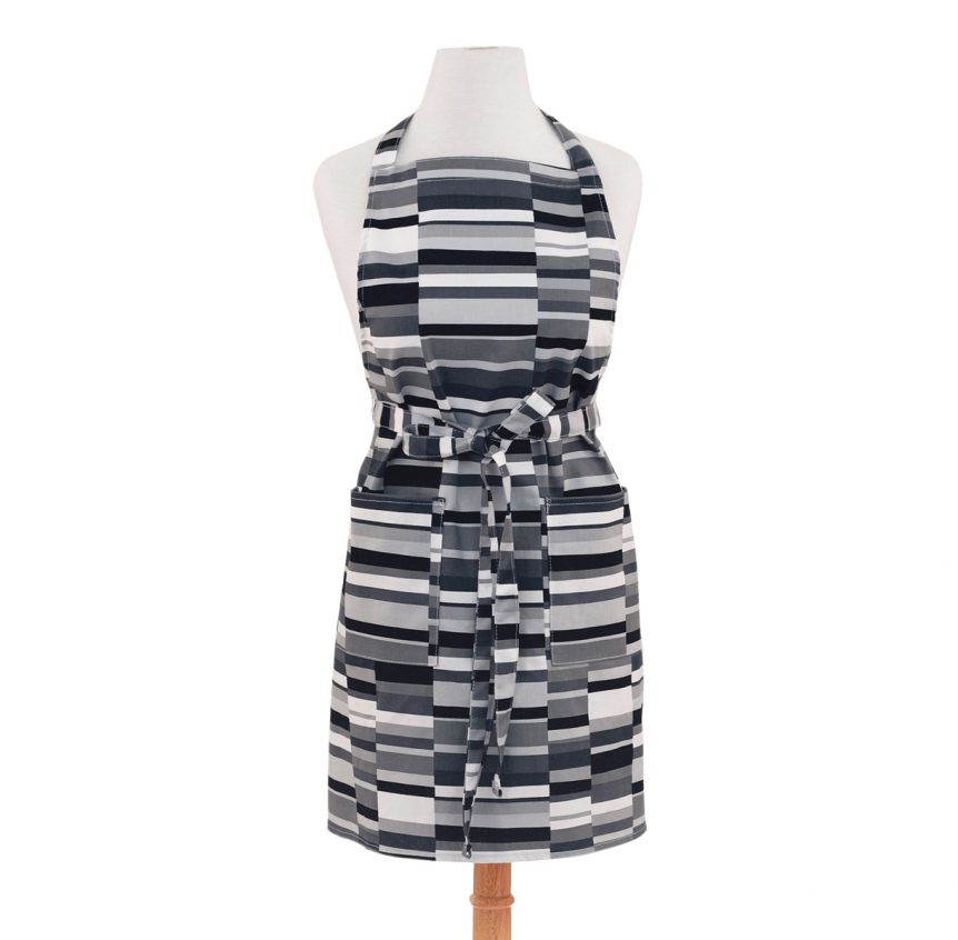 Grey Apron Stripes Design