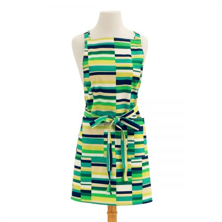 Green Apron Stripes Design