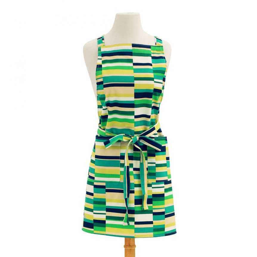 Green Apron Stripes Design