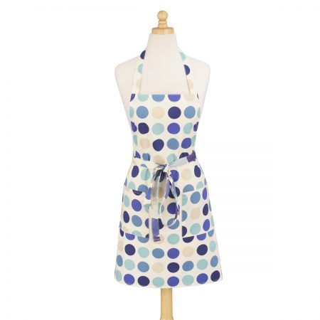 Dotted Blue Modern Apron