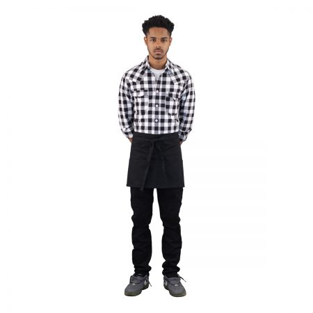 Short Server Apron Black Denim