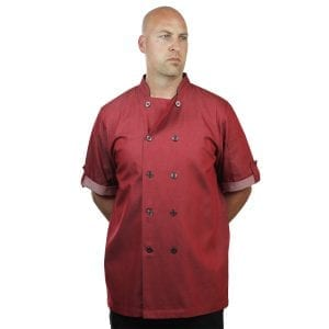 Red Chef Coat Short Sleeve Unisex