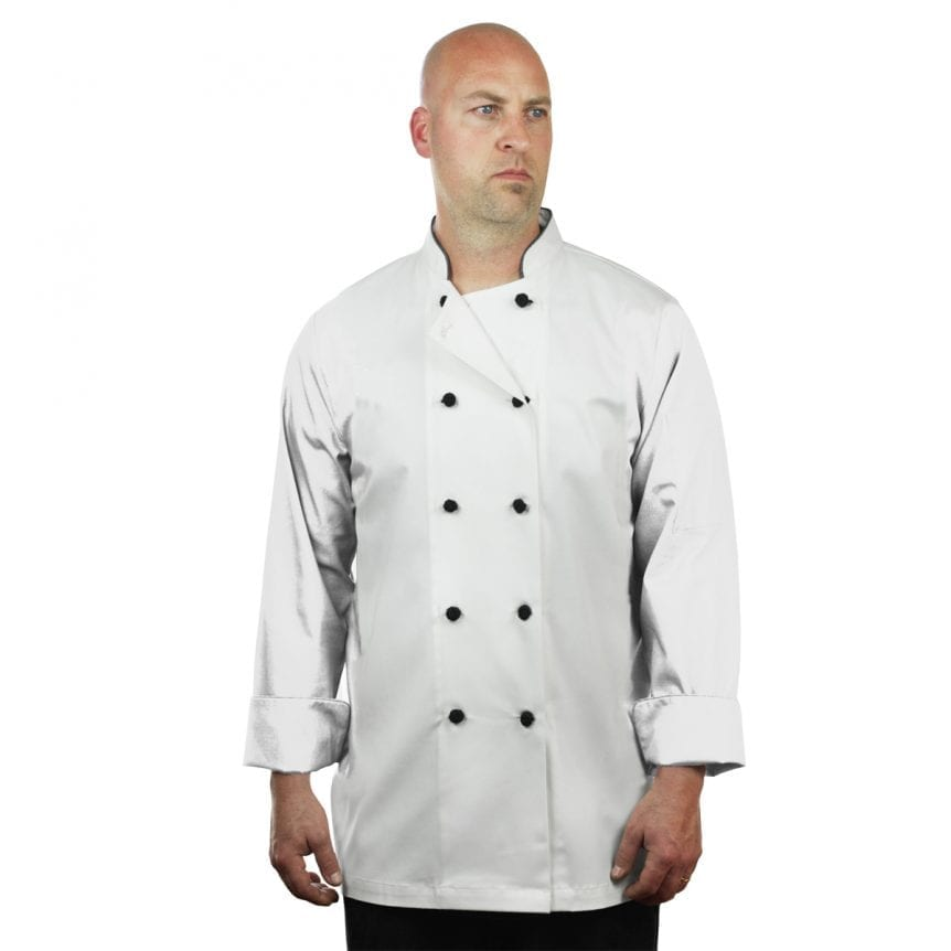 White Chef Coat Long Sleeve Unisex