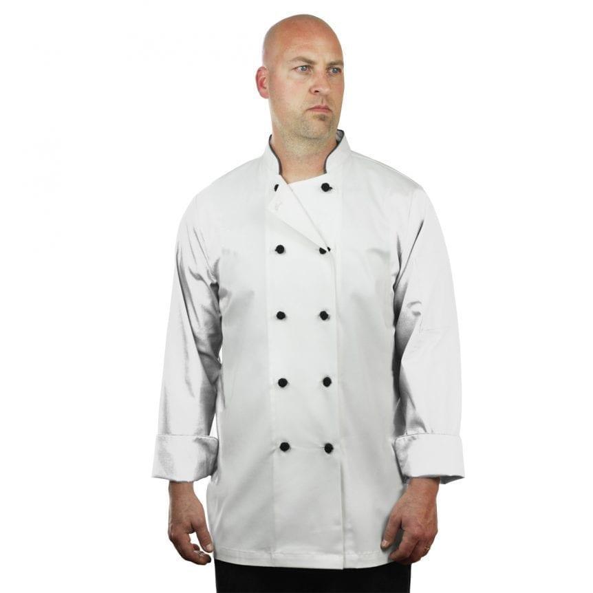 White Chef Coat Long Sleeve Unisex