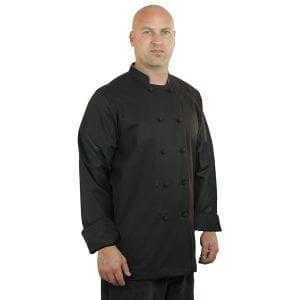 Black Chef Coat Long Sleeve Unisex