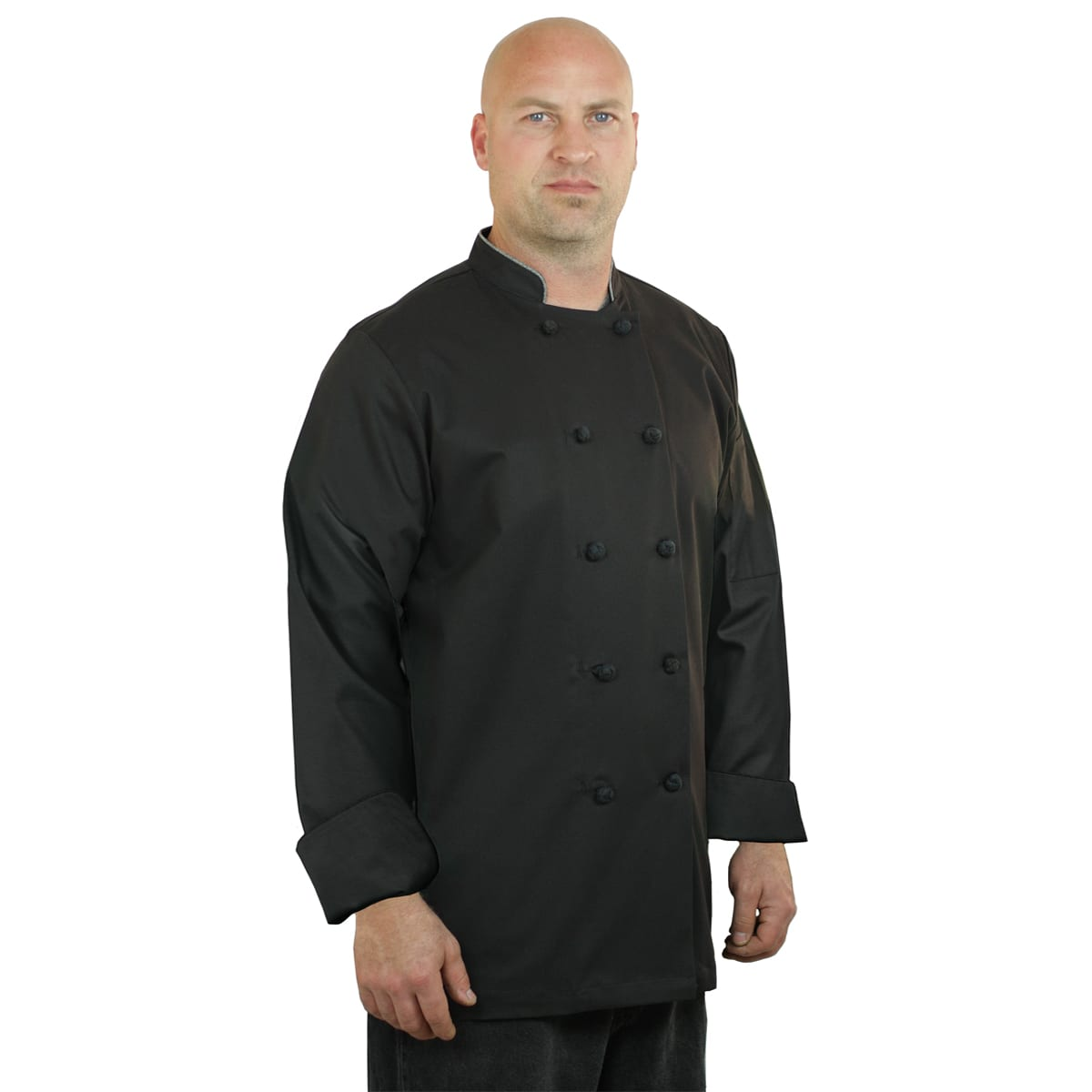 Chef Coat Designs | Black Chef Coat Long Sleeve Unisex Art Style Design Living