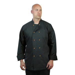 Black Chef Coat Denim Long Sleeve Unisex