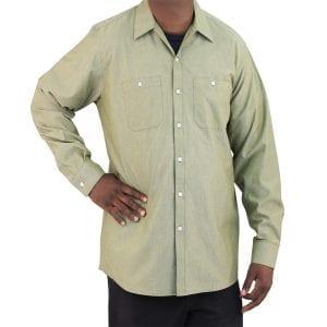 Green Oregano Work Shirt Oxford