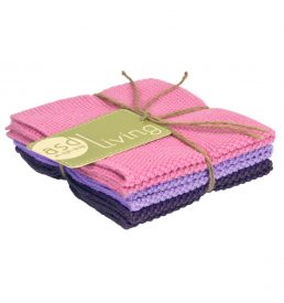 Dishcloth Rose 3 Piece Bundle