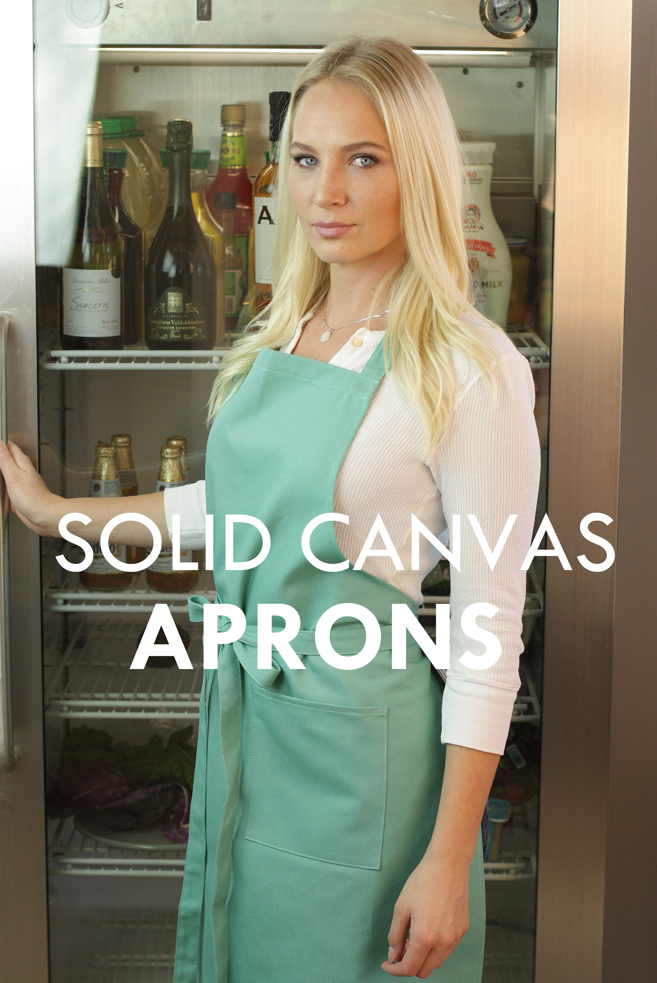 solid canvas aprons