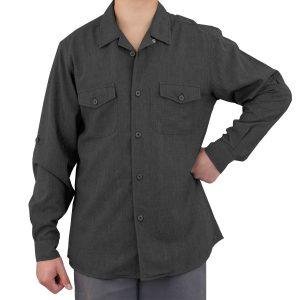 Charcoal Grey Work Shirt Zanzibar