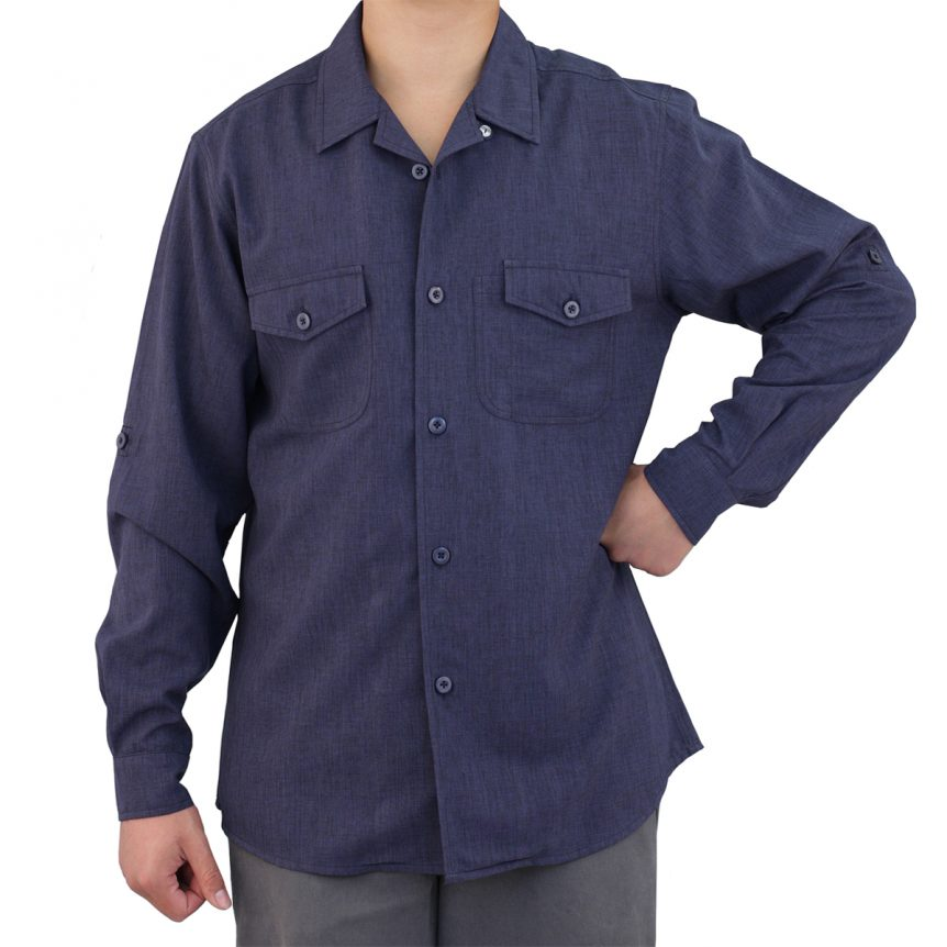 Navy Blue Work Shirt Zanzibar