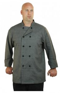 Heather Grey Chef Coat Long Sleeve Unisex
