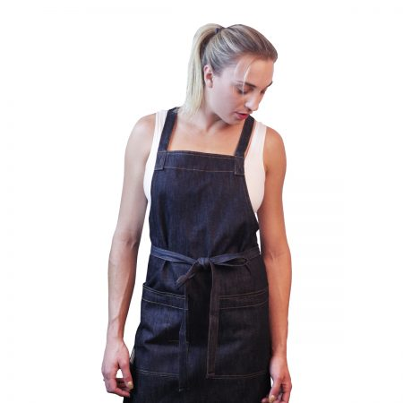 Cross-back Apron Indigo Denim