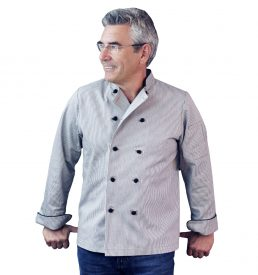 Dylan Chef Coat Railroad Stripe