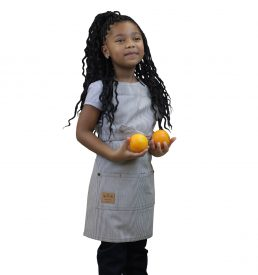 Kids Denim Apron Railroad Stripe