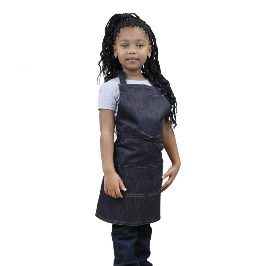 Kids Denim Apron Indigo