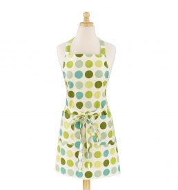 Dotted Green Modern Apron
